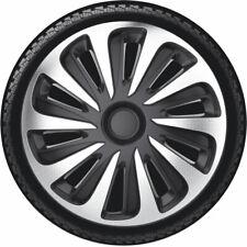 """4 Copricerchi auto universali Gorecki Caliber carbon silver nera coppa ruota 16"""""""