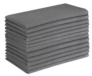 6 X Cotton Polyester Napkins Soft Fabric Washable and Reusable DARK GRAY