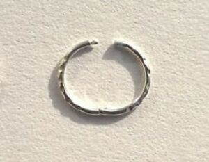 A SINGLE Sterling Silver 925 Singed Hinged Sleeper earring 11 12 and16mm sizes