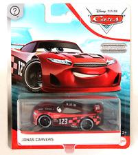 CARS 3 - JONAS CARVERS racer NO STALL TEAM - Mattel Disney Pixar METALLIC EDIT.