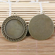 2pcs antiqued bronze round photo frame 30mm cabochon setting EF2164