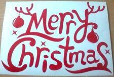 merry christmas shop front window door vinyl sticker decal graphic wall art fun