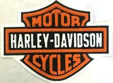 Harley Davidson Orange B&S Premium Chenille Patch Emblem Motorcycle Vest HD11001