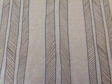 Kravet Embroidered Linen Stripe Upholstery Fabric Cords Indigo 0.95 yd 33430-516