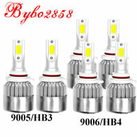 Combo 9006+ 9005 LED Headlight Bulb Kit Hi Lo Fog 6000K for Toyota CAMRY COROLLA