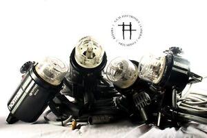 Norman LH2400/P2000D strobe kit, 4 flash/lamp heads, power pack, optical slave