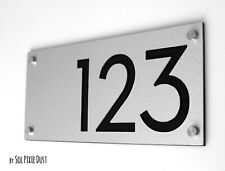 Modern House Numbers, Alucobond with Black Acrylic - Contemporary Home Address