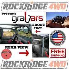 Jeep Wrangler JK 2-Door 07-15 Front & Back GraBars Set Hard Mount Solid Steel