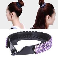 Women's Hair Clip Rhinestone Hairpin Claws Ponytail Bun Holder Accessory Tool.