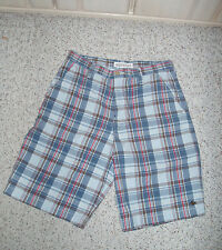 Men's Boys AEROPOSTALE Casual Dress Bermuda Plaid Shorts~Blue/Red/Brown~Size 31