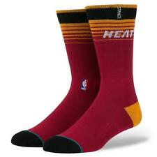 STANCE NBA ARENA LOGO MIAMI HEAT TEAM SOCKS FIT NO. 558 MENS LARGE