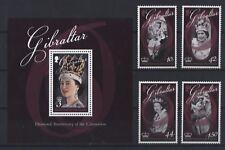 Gibraltar 2013 - Königin Elizabeth II - Krönung der Queen  Mi. 1519-22 + Bl. 110