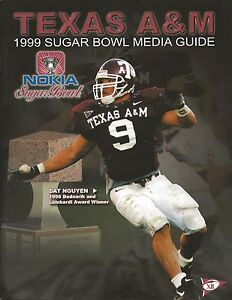 1999 Sugar Bowl Media Guide - Texas A&M ed. (vs. Ohio State) Dat Nguyen on cover