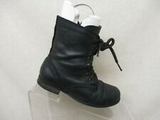 Steve Madden Black Side Zip Lace Up Combat Ankle Boots Toddler Size 12