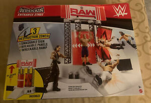 WWE RAW Entrance Stage Wrekkin 3 Destructive Zones Areas Playset BRAND NEW!