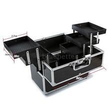 Large Cosmetic Organizer Box Make Up Case Lockable Containing Storage Box J5F4