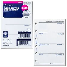 2022 Filofax Pocket Size Refill 22 68221 Week On Two Pages 81mm X 120mm
