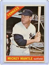 1966 TOPPS BASEBALL #50 MICKEY MANTLE, NEW YORK YANKEES, HOF, 061718