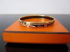 HERMES : Bracelet émaillé vintage. Plaqué or. Avec boite.