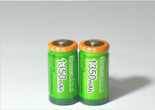 2pcs ETINESAN CR123A LiFePO4 1350mah rechargeable battery camera battery