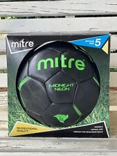 Mitre Midnight Neon Soccer Ball Recreational Quality Official Size 5