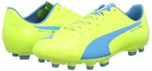 BRAND NEW PUMA evoSPEED SL-S AG FOOTBALL BOOTS, 3 SIZES, YELLOW & BLUE RRP £120