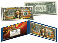"""United States of America Flag """"Old Design"""" Legal Tender $1 Bill FULLY COLORIZED"""