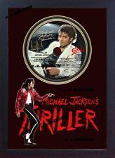 Michael Jackson PHOTO & Thriller CD Disc SIGNED Presentation Display Framed