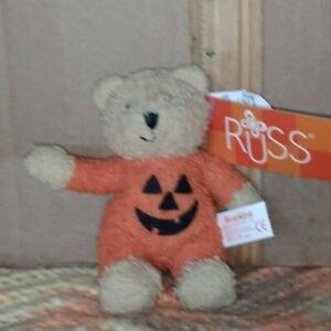 "RUSS Bearkins 4"" plush teddy bear"