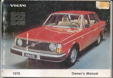 Volvo 242 244 245 original Owner's Handbook 1978