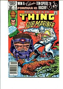 MARVEL TWO IN ONE #81 (THE THING AND SUB-MARINER 1981) VF