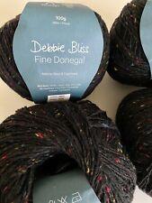New ListingDebbie Bliss Fine Donegal Fingering Yarn Lot of 4 - Black - Wool Cashmere