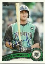 2011 Topps Pro Debut CHRIS DOMINGUEZ Signed Card ONLY 22 MLB GAMES REDS GIANTS