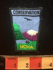 Vtg NCHA Camper Patch - Snow Capped Purple Mountain Majesty CONSERVATION 75V3