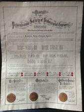 CHARTER OF PENNSYLVANIA SOCIETY OF PROFESSIONAL ENGINEERS 1933