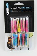 12 Pack Paper COCKTAIL DRINKS UMBRELLA Parasol Party CHEF AID Cocktail