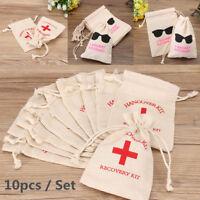 10Pcs Bachelorette Party Bag Cotton Linen Hangover Kit Wedding Hen Party Favors