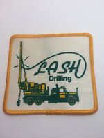 """Vtg Lash Drilling Sew On Patch 3"""" Oil Gas Rig"""