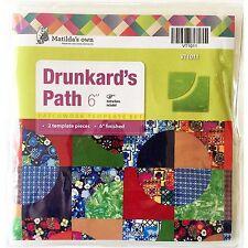 "Matildas Own 6"" Drunkards Path Patchwork Template Set"