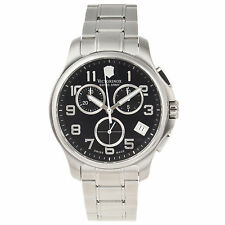 Victorinox Swiss Army Officer's Chrono, Black Dial Steel Band - 241453