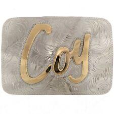Custom Made Silver Gold Southwestern Belt Buckle by Jackson