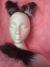 Mini Fox Ears And Tail Luxury Fake Fur Tan Brown Fox Fancy Dress Ears & Foxtail