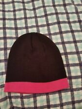JOE BOXER - GIRLS - ONE SIZE - BLACK with PINK  SKULL BEANIE HAT STOCKING CAP