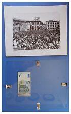 Benito Mussolini piazza Venezia 5 maggio 1936 duce fascismo quadro cornice vetro