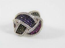 Pave Endless Knot Ring Size 8.25 Multicolored Jcm Jacmel Cubic Zirconia Cz