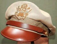 "US Army AAF WW2 PILOT BANCROFT FLIGHTER TROPICAL WOOL ""50 MISSION"" CRUSH CAP Hat"