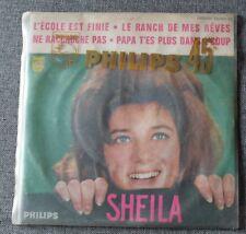 Sheila, l'ecole est finie, EP - 45 tours pochette juke boxe