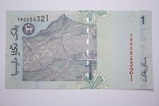 (PL) RM 1 YR 0054321 UNC NICE, LOW, FANCY & DESCENDING LADDER NUMBER PAPER NOTE