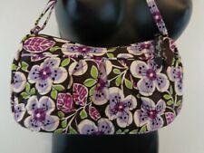 VERA BRADLEY Women Crossbody Purse Purple Floral Adjustable Strap