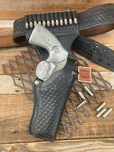 Tex Shoemaker 42A  K Basketweave Swivel Holster For Python w/ Belt Walking Dead